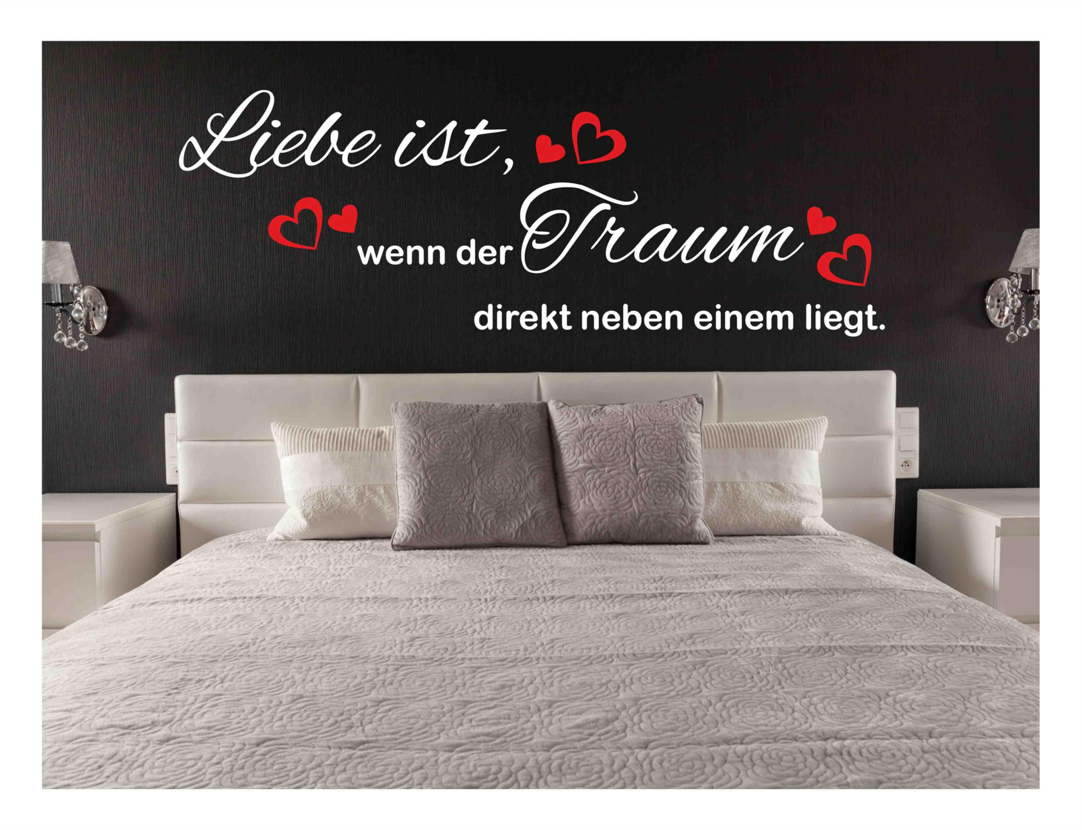 Wandtattoo Liebe ist Sprüche Herz Schlafzimmer Traum Aufkleber #114 ...
