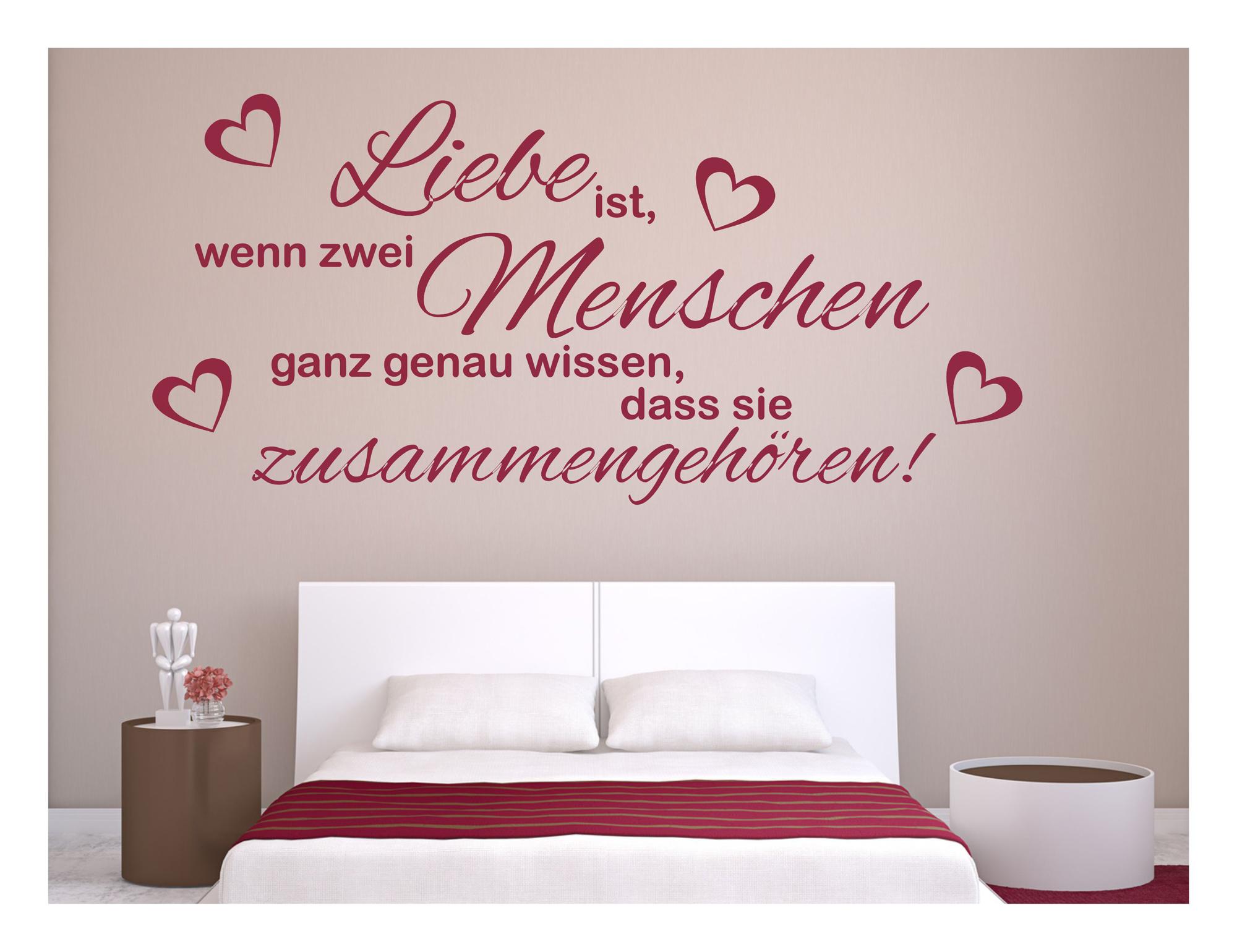 Wandtattoo Wohnzimmer Yin /& Yang Herz Schlafzimmer Liebe Wandaufkleber uss206